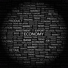 ECONOMY. Wordcloud vector illustration.