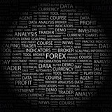 FOREX. Word collage on black background. poster