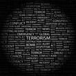 TERRORISM. Wordcloud vector illustration.