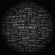 INVESTMENT. Wordcloud illustration.