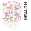 HEALTH. Word collage on white background.