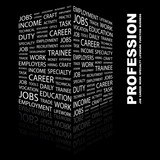 PROFESSION. Illustration with different association terms. poster