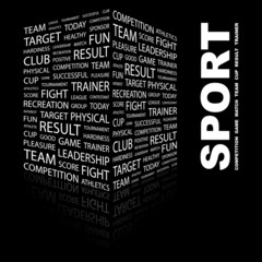 SPORT. Illustration with different association terms.