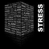 STRESS. Illustration with different association terms. poster