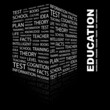 EDUCATION. Illustration with different association terms.