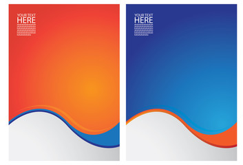 blue orange  letterheads
