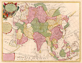 Ancient map of Asia poster