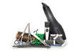 Professional hairdressing, manicure and pedicure tools. Comb, ha