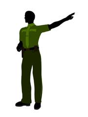 Male Sheriff Art Illustration Silhouette