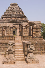 Konark Hindu Temple in Orissa, India