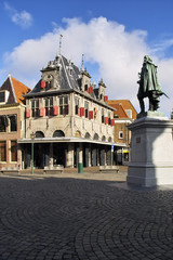 Square in Alkmaar centre Holland