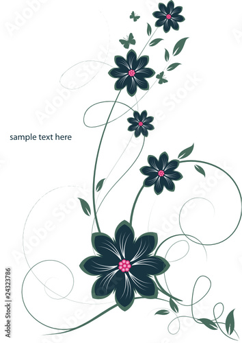 Keuken foto achterwand Vlinders in Grunge Abstract flowers background with place for your text