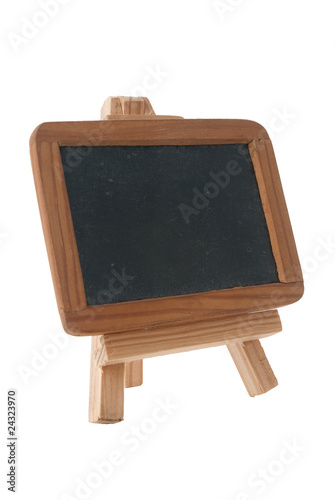 Empty Chalk Board on a easel