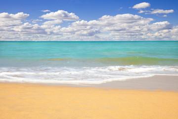 Beach seascape at summertime