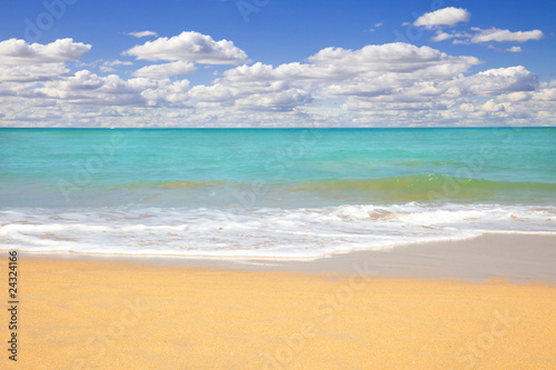 Beach seascape at summertime