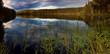 Stitched Panorama, LAKE AT SUNSET PANORAMA