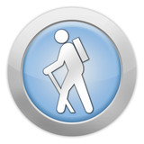 "Light Colored Icon ""Hiking"""
