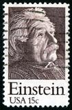 Vintage USA 15c Albert Einstein Postage Stamp poster