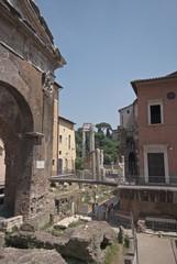 Roma, il Portico d'Ottavia (part.) e il Foro Piscario