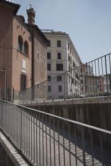 Roma, la zona del Foro Piscario vista dal Portico d'Ottavia