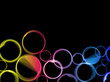 Abstract colorful circles background.