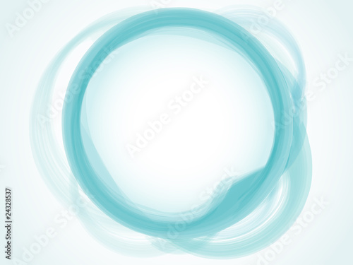 Abstract Pastel blue aqua circle