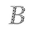 Постер, плакат: Буква B из футбольных мячей