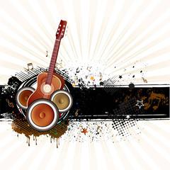 guitar,grunge ink,music background