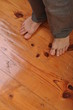 Man bare feet