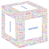 INVESTMENT. Word collage on white background. poster