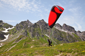 Paragliding in alps