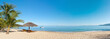 canvas print picture - Tropical beach panorama