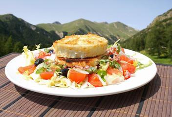 Salade de chèvre chaud à la montagne