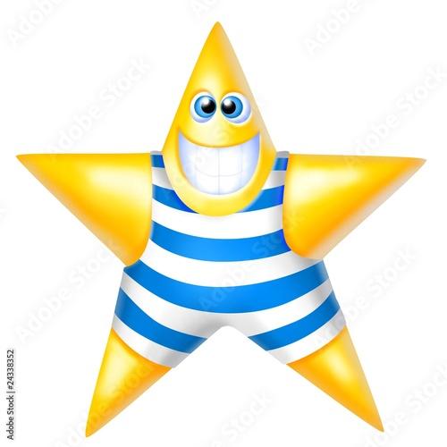 Fotobehang Water Motorsp. stella in costume da bagno