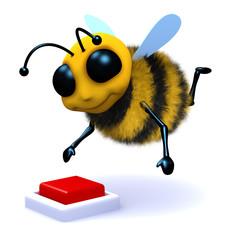 3d Bee push button