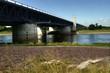 Leinwanddruck Bild - Kanalbrücke in Heyrothsberge über die Elbe - HDR
