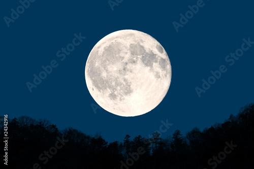 Leinwandbild Motiv 満月