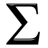 3D Greek Letter Sigma