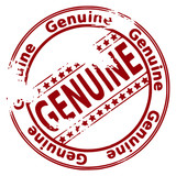 Grunge stamp GENUINE poster
