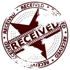 Grunge stamp RECEIVED