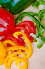 Paprika, geschnitten. Gemüse
