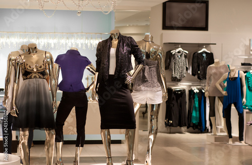 Fashion retail store in modern shopping mall - 24350302