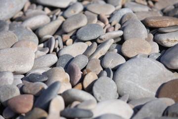 Piedras redondas de playa