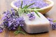 bar of natural soap, herbs and bath salt - 24351152