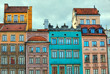 HDR image of old Warsaw houses