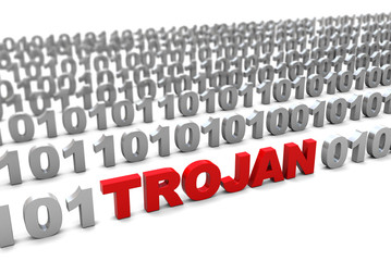 trojan in binary code