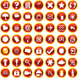 Orange icons for web