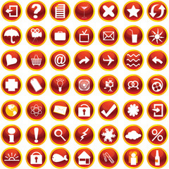Orange icons for web