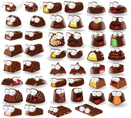 chocolate candy character collection