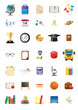 Collection of school and education icons